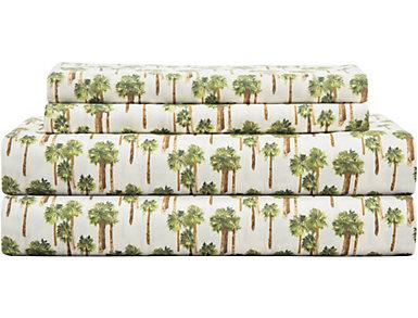 Twin Print Sheet Set, Palm, , large
