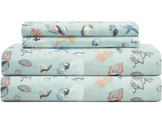 Twin Print Sheet Set, Sea, , large