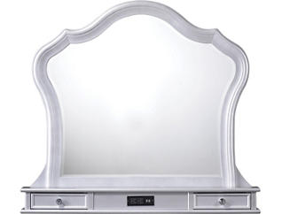 Allison Vanity Mirror, White, , large