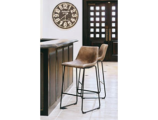 Wes Brown Barstool, Brown, large
