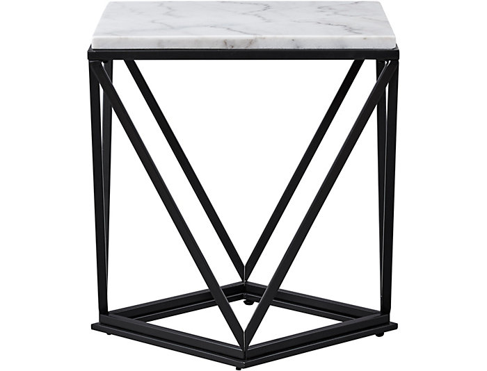 Surprising Riko White Marble End Table Caraccident5 Cool Chair Designs And Ideas Caraccident5Info