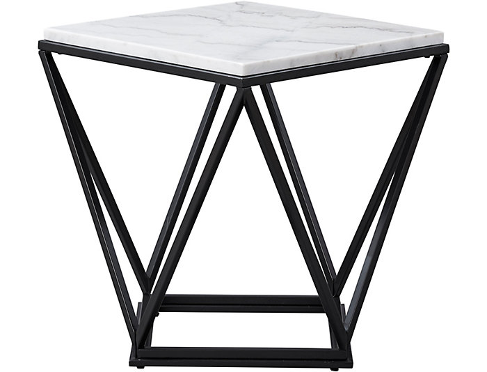 Astonishing Riko White Marble End Table Caraccident5 Cool Chair Designs And Ideas Caraccident5Info