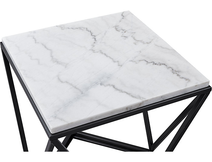 Awesome Riko White Marble End Table Caraccident5 Cool Chair Designs And Ideas Caraccident5Info