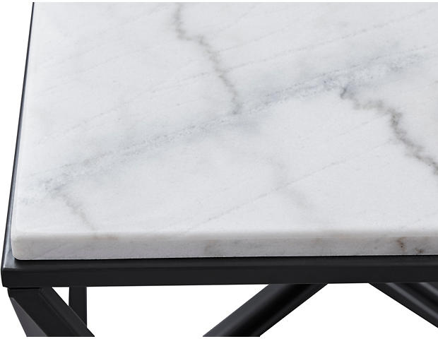Super Riko White Marble End Table Caraccident5 Cool Chair Designs And Ideas Caraccident5Info