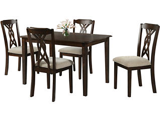 Amanda Table & 4 Chairs, , large
