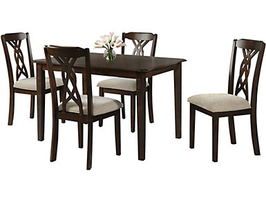 Amanda Dining Set, Table and 4 Chairs, , large