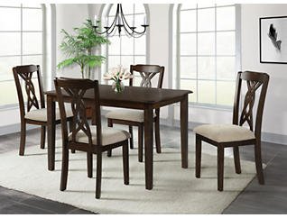 Amanda 5 Piece Dining Set, , large