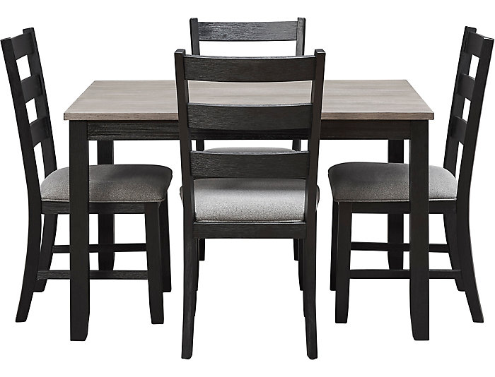 Marty Grey 5 Piece Dining Set