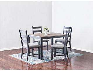 Marty Grey 5 Piece Dining Set, , large