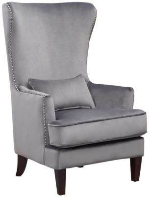 Kori Accent Chair, Navy Blue, Gunmetal, swatch