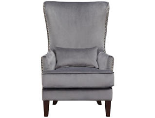 Kori Accent Chair, Gun Metal Grey, Gunmetal, large