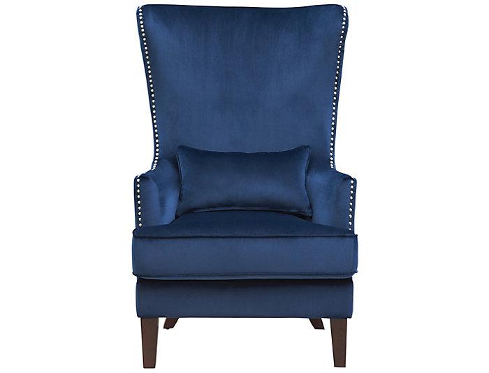 Magnificent Kori Accent Chair Navy Blue Ibusinesslaw Wood Chair Design Ideas Ibusinesslaworg