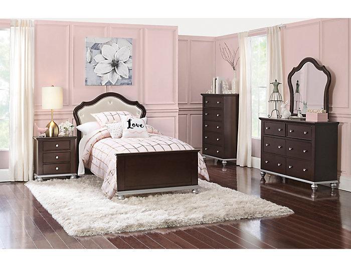 Allison Dark Espresso 3 Piece Full Bedroom Set