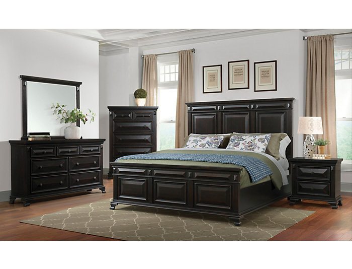 Calloway Dark Brown 4 Piece King Bedroom Set
