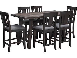Cash 7 Piece Counter Dining Set, , large