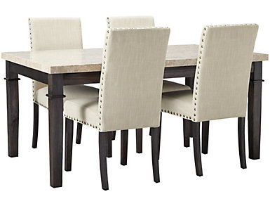 Filmore 5 Piece Upholstered Dining Set, , large