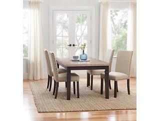 Filmore 5 Piece Upholstered Dining Set, , large