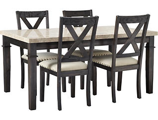 Fillmore 5PC Dining Set- Wood, , large