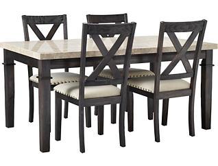 Fillmore 5PC Dining Set- Wood, , large