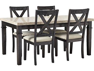 Fillmore 5PC Dining Set  Wood