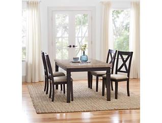 Fillmore 5 Piece Upholstered Dining Set, , large