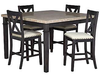 fillmore 5pc gathering set wd kitchen  u0026 dining room furniture sets   art van furniture  rh   artvan com