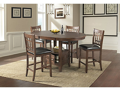 Max 5 Piece Counter Table Set, , large