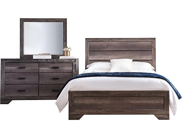Nathan Grey 3 Piece Grey Queen Bedroom Set