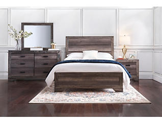 Nathan Grey Queen Bed, , large
