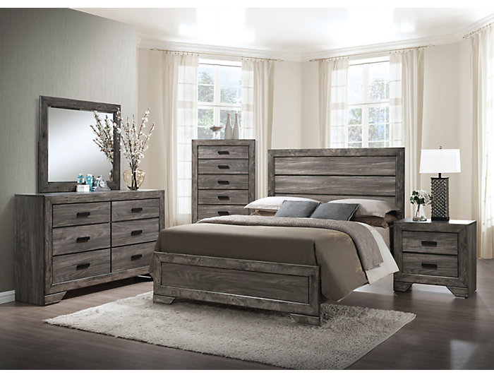 Nathan Grey Queen Bedroom Set