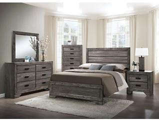 Nathan Grey Queen Bedroom Set