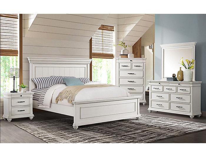 Slater Weathered White Queen Bedroom Set