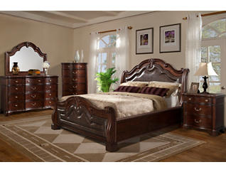 Cascade 3 Piece Platform Bedroom Set