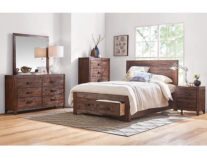 Warner Chestnut 5 Piece Queen Bedroom Set