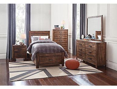 Warner 5 Piece Twin Bedroom Set, , large