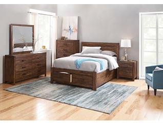 Warner Chestnut 3 Piece King Bedroom Set, , large