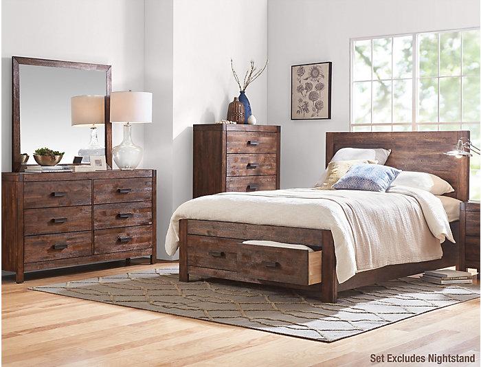 Warner Chestnut King Bedroom Set   Outlet at Art Van