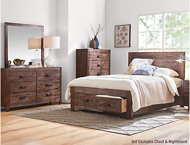 Warner 5 Piece Queen Bedroom Set, , large