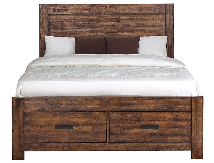 Warner Chestnut Queen Bed | Outlet at Art Van