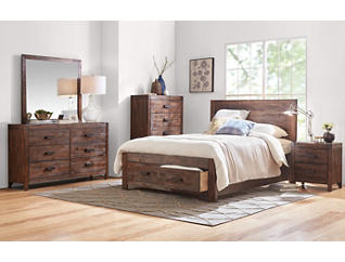 Warner Chestnut Queen Bed, , large