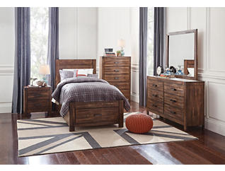 Warner 4pc Twin Bedroom Set, , large