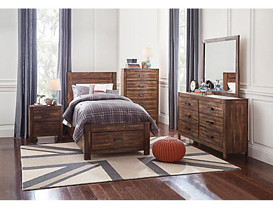 Warner 4 Piece Twin Bedroom Set, , large