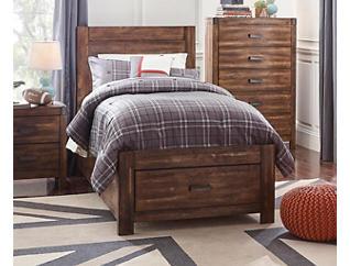 Warner Chestnut Twin Bed, , large