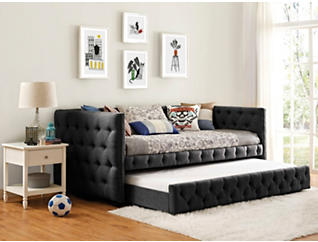 Janell Twin Daybed, Charcoal, large