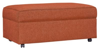 Kerry III Storage Ottoman, Copper Orange, swatch