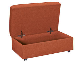 Kerry III Copper Orange Storage Ottoman, Copper Orange, large