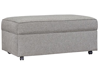 Kerry III Storage Ottoman, Steel, Steel, large