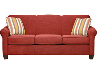 Spectrum-III Sofa, Vermillion Red, large