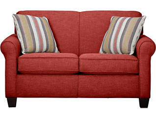 Spectrum-III Loveseat, Vermillion Red, Vermillion Red, large