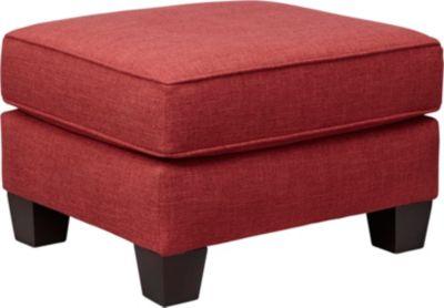 Spectrum-III Ottoman, Vermillion Red, swatch